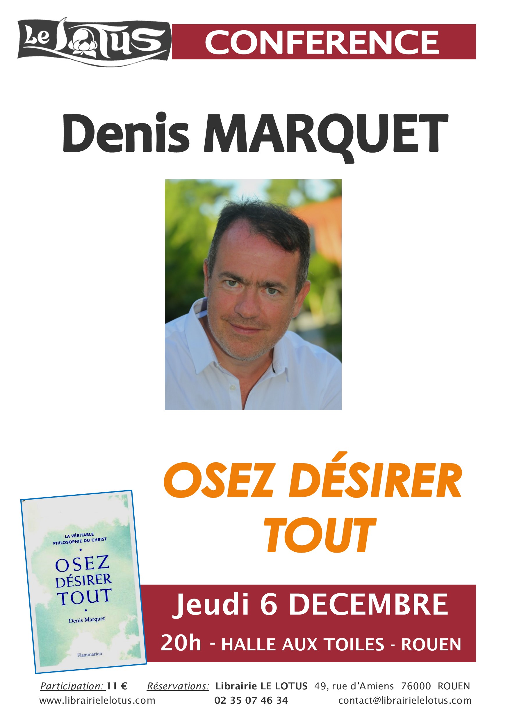 CONFERENCE - OSEZ DESIRER TOUT